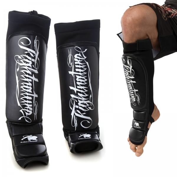 FIGHTNATURE Schienbein- und Spannschutz Leder