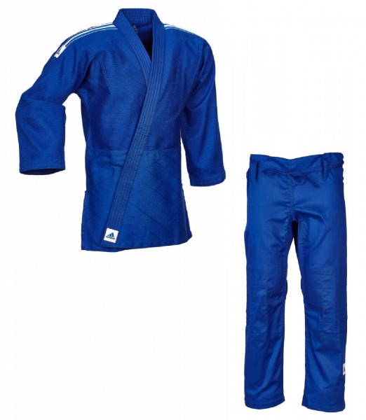 "adidas Judo-Anzug ""Training"" blau/weiße Streifen, J500B"