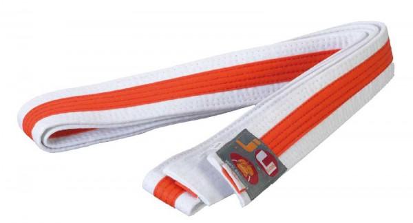 Ju-Sports Budogürtel weiß/orange/weiß