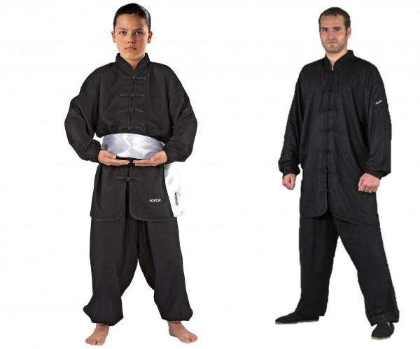 Schwarzer KWON Kung Fu Anzug Quan