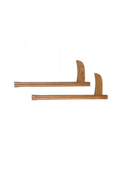 KWON Paar Holz Kama natur 46 cm