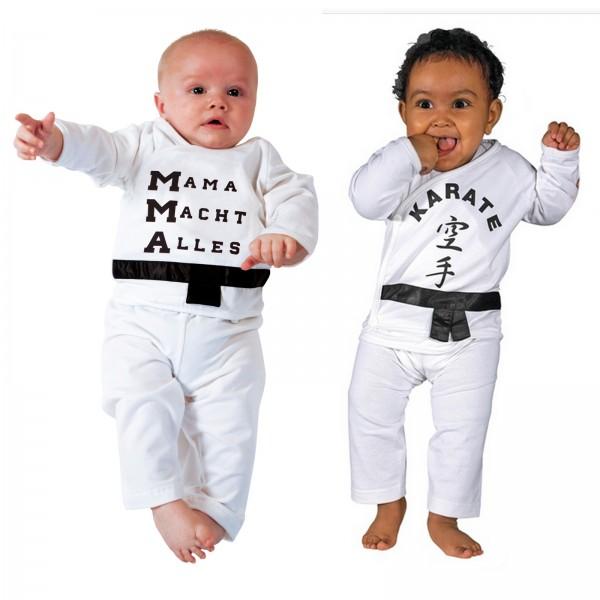 KWON Baby Strampler mit Kampfsportmotiven