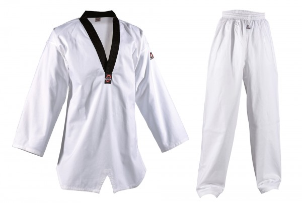 8oz DANRHO Taekwondo-Anzug Kukkiwon mit schwarzes Revers