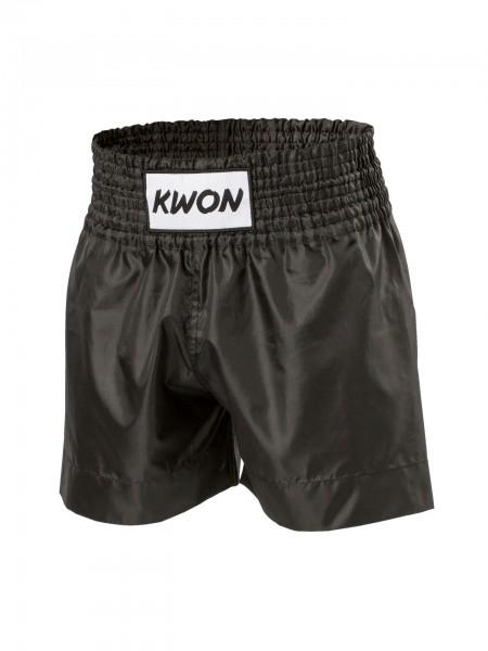 Schwarze Thaiboxhose von KWON Frontansicht