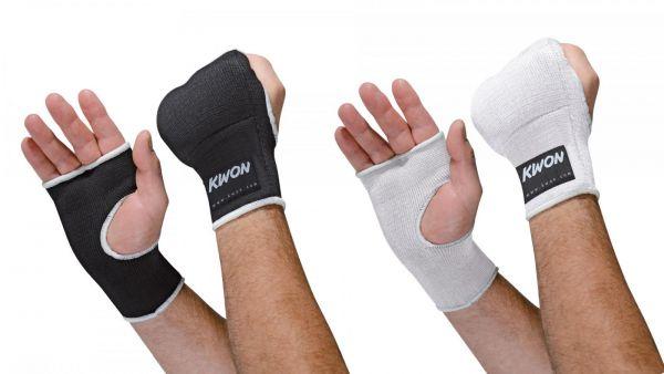 Gepolsterte Innenhandschuhe von Kwon in Schwarz und Weiß