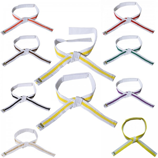 KWON Gürtel mit Klettverschluss für Kinder, zweifarbig