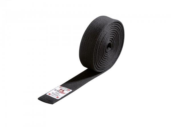 Schwarzer DANRHO Budo-Gürtel schwarz 4 cm