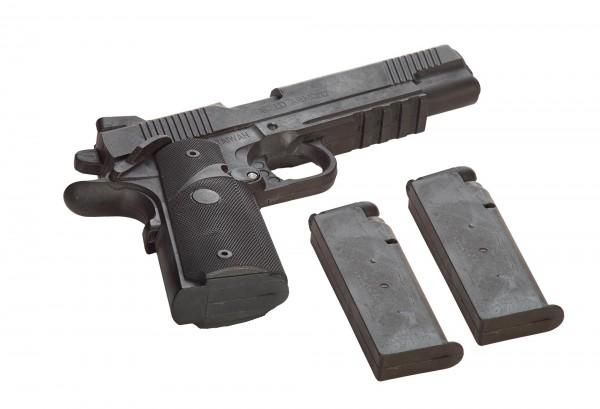 JU-SPORTS Gummi-Pistole mit Magazin und zwei Wechselmagazinen