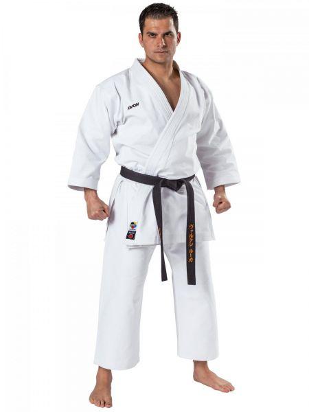 Weißer Karateanzug Kata 12 oz. von KWON mit WKF Logo 3