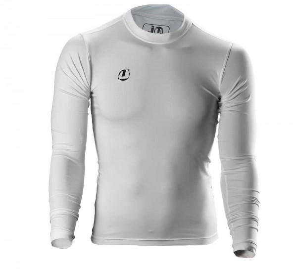 Ju-Sports Compression Shirt langarm weiß