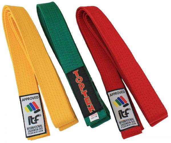 Taekwondo Gürtel ITF approved von Top Ten