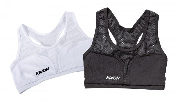 Schwarzes und weißes KWON Top für Damen Brustschutz Cool Guard und Super Protect