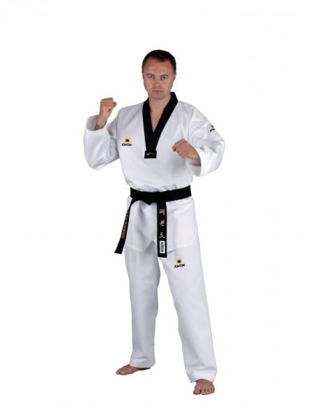 KWON TKD Anzug Competition Korea mit schwarzes Revers - WTF-Zulassung