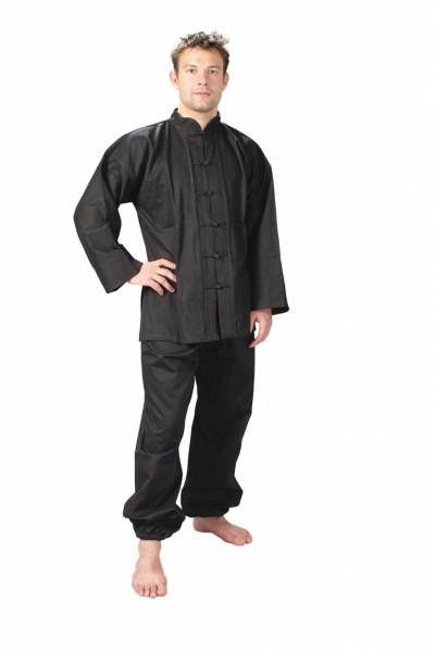 JU SPORTS Kung Fu Anzug schwarz, Cotton