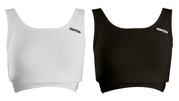 Schwarzes und weißes KWON TOP für Damen Brustschutz Maxi Guard