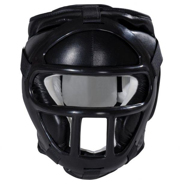 KWON Kopfschutz mit Schutzmaske in schwarz
