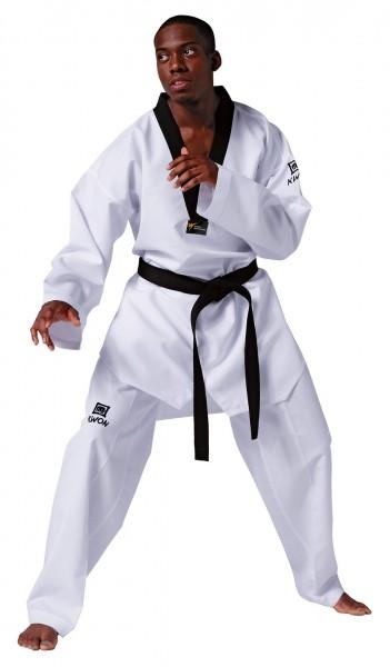 KWON Taekwondo Anzug Revolution - schwarzes Revers mit WT Anerkennung