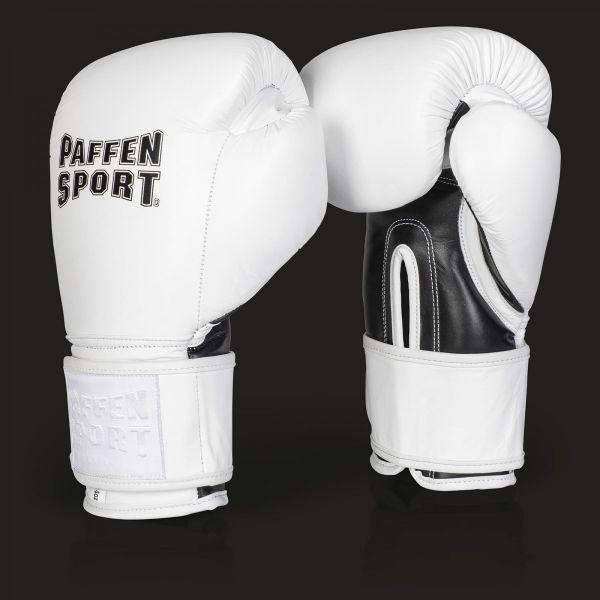 Paffen Sport Pro Klett Boxhandschuhe für das Sparring Weiß-schwarz