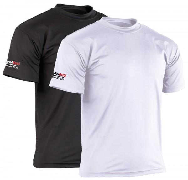 Schwarzes und weißes Rash guard T-Shirt von Danrho