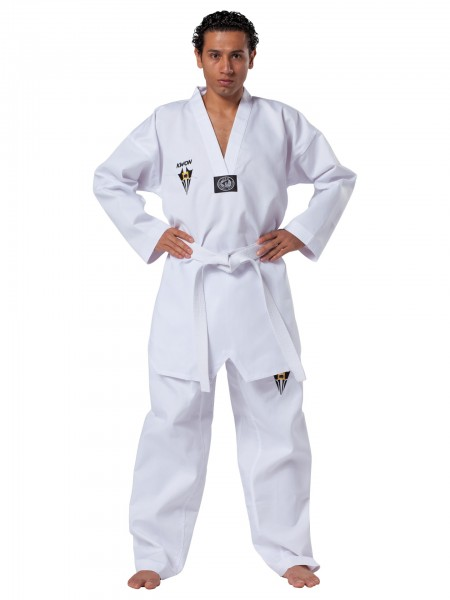 KWON Starfighter Taekwondoanzug mit weißem Revers